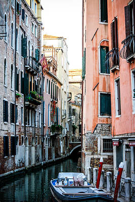 Photograph - Colorful Venice Canal by Anthony Doudt
