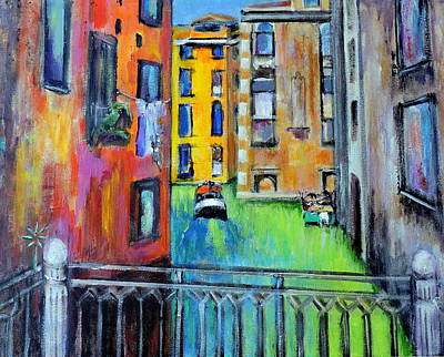 Painting - colorful Venice by Jodie Marie Anne Richardson Traugott          aka jm-ART
