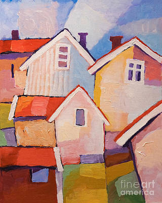 Painting - Sunny Village by Lutz Baar