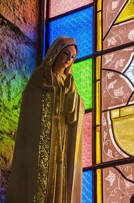 Christian Sacred Photograph - Colorful Virgin Mary by Jess Kraft