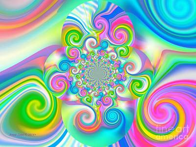 Digital Art - Colorful Wall Art by Annie Zeno