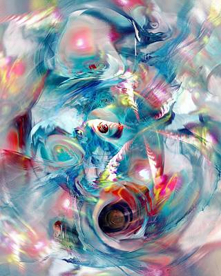 Multicolored Digital Art - Colorful Water by Anastasiya Malakhova