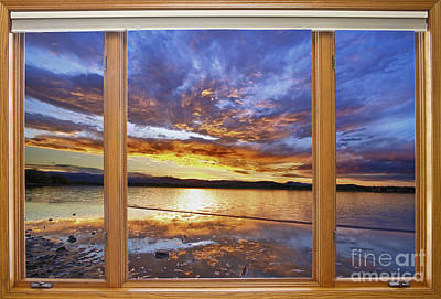 Colorful Waterfront Classic Wood Window View  Original by James BO  Insogna