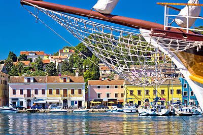 Christmas Christopher And Amanda Elwell Rights Managed Images - Colorful waterfront of Island Losinj Royalty-Free Image by Brch Photography