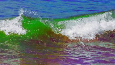 Digital Art - Colorful Wave by Ernie Echols