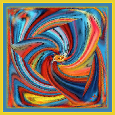 Digital Art - Colorful Waves by Ben and Raisa Gertsberg