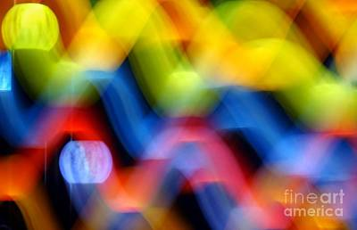 Photograph - Colorful Waves Of Light by Yali Shi