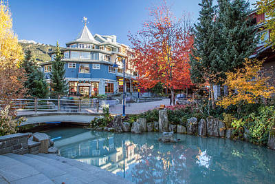 Blackcomb Photograph - Colorful Whistler Village In Autumn by Pierre Leclerc Photography