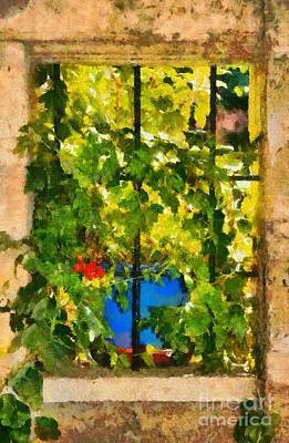 Crete Painting - Colorful Window by George Atsametakis