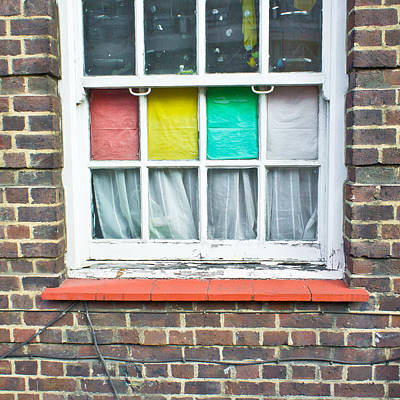 Little Red School House Photograph - Colorful Window by Tom Gowanlock