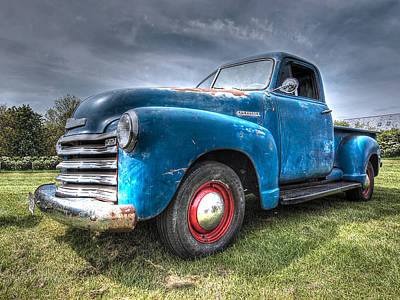 Vintage Chevrolet Truck Photograph - Colorful Workhorse - 1953 Chevy Truck by Gill Billington