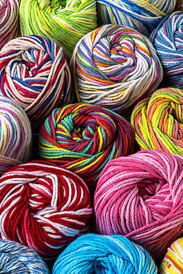 Textile Photograph - Colorful Yarn by Garry Gay