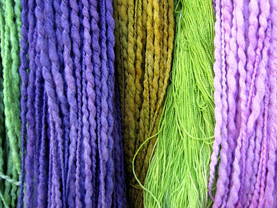 Photograph - Colorful Yarn -  Photography by Ann Powell