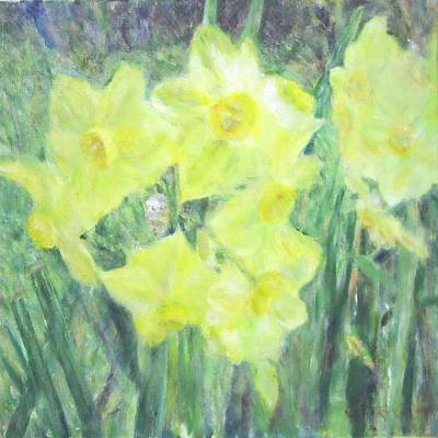 Painting - Colorful  Yellow Flowers by Glenda Crigger