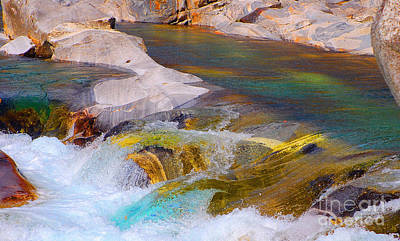 Photograph - Colorfull Water Of The River Verzasca by Lilianna Sokolowska