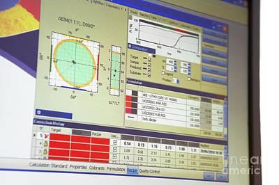 Screenshot Photograph - Colorimetric Software by Mark Sykes