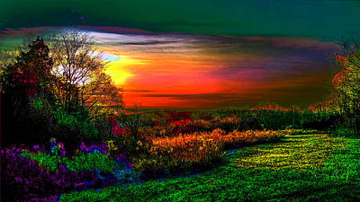 Photograph - Colorized Sunrise by Jeff Kurtz