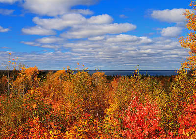 Colors Above Lake Superior Art Print by Rachel Cohen