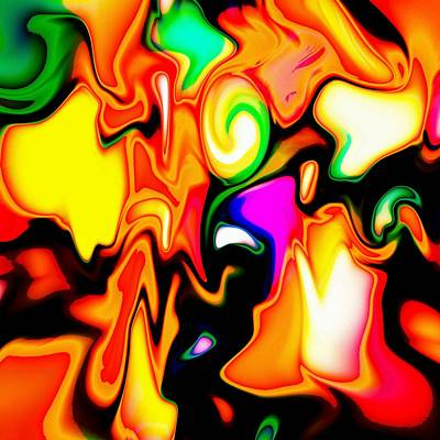 Abstract Digital Color Colorful Expressionism Impressionism Painting - Colors And Forms by Steve K