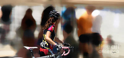 Bicycle Race Photograph - Colors At Walking Speed  by Steven Digman