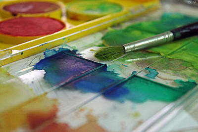 Artist Working Photograph - Colors by Dardan Vukaj