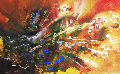 Painting - Colors Exploded by Miroslaw  Chelchowski