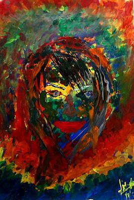Colors In A Girls Life Art Print by Aditya Ravi