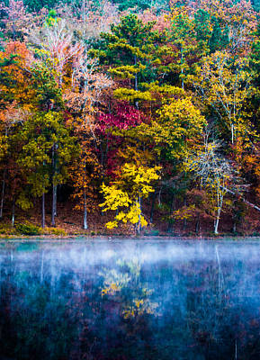 Autumn Landscape Photograph - Colors In Early Morning Fog by Parker Cunningham