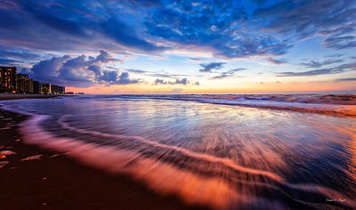 Myrtle Beach Photograph - Colors In Surf by Everet Regal