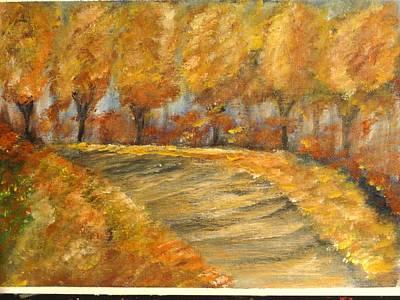 Colors Of Autumn Art Print by Corina  Lupascu