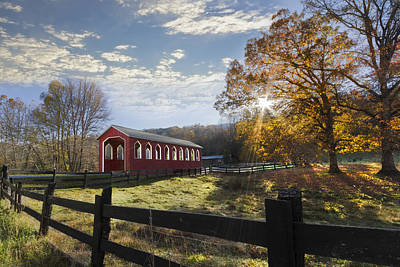Tn Barn Photograph - Colors Of Autumn by Debra and Dave Vanderlaan