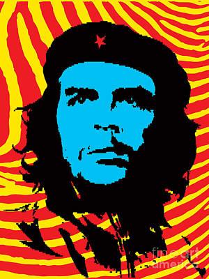 Che Digital Art - Colors Of Che No.2 by Bobbi Freelance