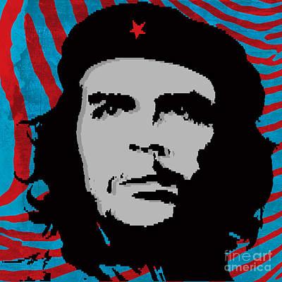 Che Digital Art - Colors Of Che No.4 by Bobbi Freelance