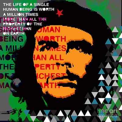 Che Digital Art - Colors Of Che No.5 by Bobbi Freelance