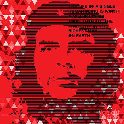 Che Digital Art - Colors Of Che No.6 by Bobbi Freelance