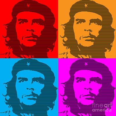 Argentina Digital Art - Colors Of Che No.7 by Bobbi Freelance