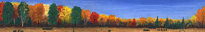 Pastel - Colors Of Fall by George Burr