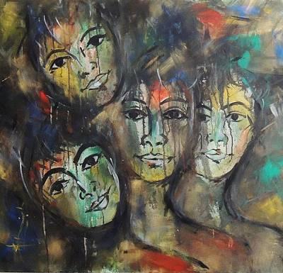 Holi Painting - Colors Of Life by Aashish  Moga