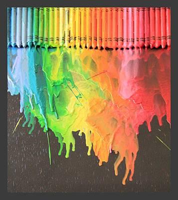 Crayon Mixed Media - Colors Of Life by Richika Kaushik