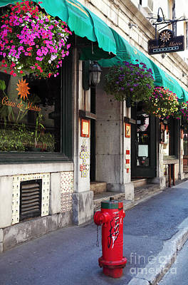 Old Montreal Photograph - Colors Of Montreal by John Rizzuto