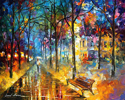 Colors Of My Past - Palette Knife Oil Painting By Leonid Afremov Original by Leonid Afremov