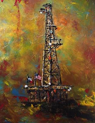 Oil Rig Painting - Colors Of Oil by Debbi Unger