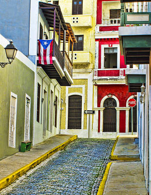 Alley Photograph - Colors Of Old San Juan Puerto Rico by Carter Jones