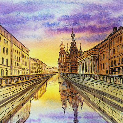 Painting - Colors Of Russia St Petersburg Cathedral I by Irina Sztukowski