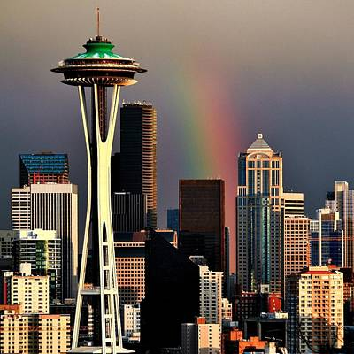 Photograph - Colors Of Seattle Square by Benjamin Yeager