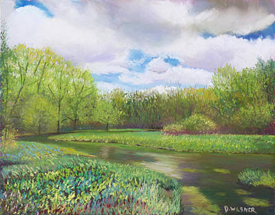 Pastel - Colors Of Spring At Millbrook Marsh by Denise Wagner