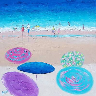 Colors Of Summer Beach Painting Art Print