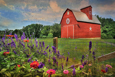 Rural Scenes Digital Art - Colors Of Summer by Lori Deiter