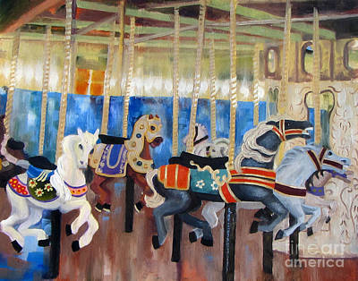 Colors Of The Carousel Original by Tracy Dupuis Roland