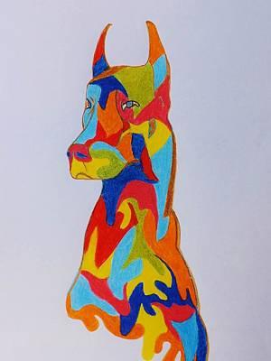 Drawing - Colors Of The Dog by Katharina May